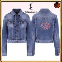 Saint Laurent Short Casual Style Denim Jackets