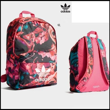 ... adidas Backpacks Flower Patterns Casual Style Unisex Backpacks ...