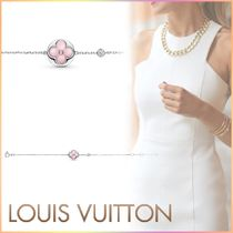 Louis Vuitton Blended Fabrics Chain 18K Gold Elegant Style Fine