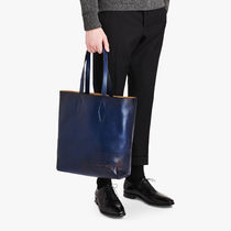 Berluti A4 Plain Leather Totes