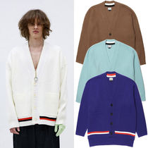 HEICH BLADE Stripes Wool Plain Oversized Cardigans