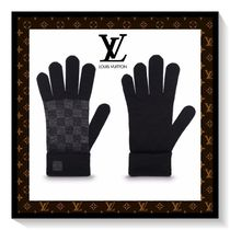 Louis Vuitton Other Check Patterns Unisex Wool Gloves Gloves