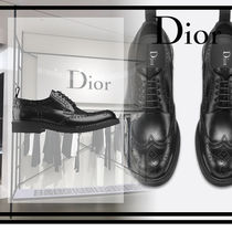 Christian Dior Plain Leather Oxfords