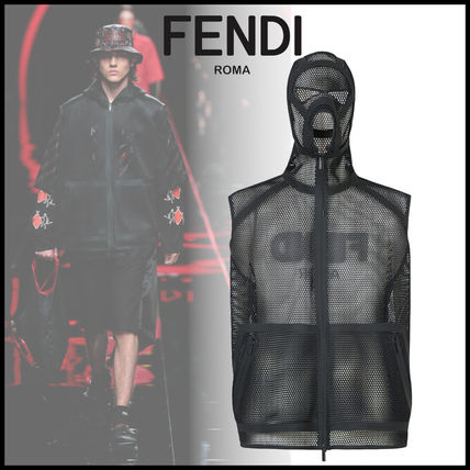 FENDI Vests & Gillets Street Style Plain Vests & Gillets