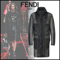 FENDI Street Style Plain Long Coats