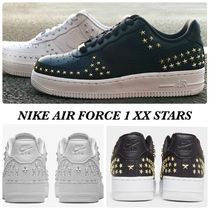 Nike AIR FORCE 1 Star Round Toe Rubber Sole Lace-up Casual Style Street Style