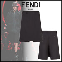 FENDI Wool Street Style Plain Shorts