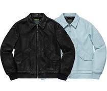 Supreme Unisex Street Style Collaboration Biker Jackets