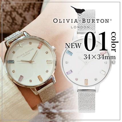 Round Quartz Watches Elegant Style Analog Watches