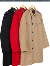 Supreme Unisex Street Style Trench Coats