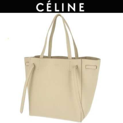 faeca7e8438 CELINE Cabas Phantom 2018-19AW Casual Style A4 Plain Leather Totes ...