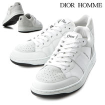 DIOR HOMME Street Style Plain Leather Sneakers