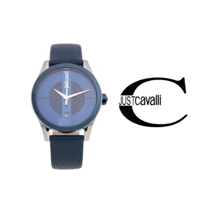 Leather Round Analog Watches