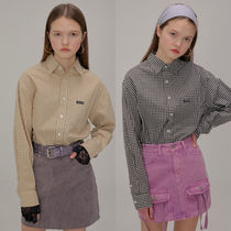 SCULPTOR Other Check Patterns Casual Style Street Style Long Sleeves