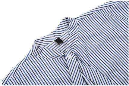 ASCLO Shirts Stripes Oversized Shirts 13