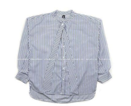 ASCLO Shirts Stripes Oversized Shirts 17