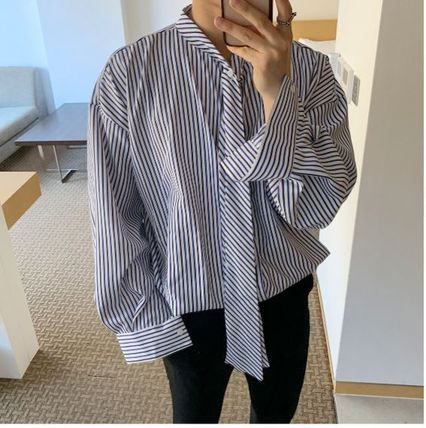 ASCLO Shirts Stripes Oversized Shirts 6