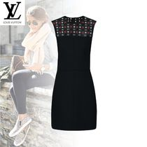 Louis Vuitton Short Tight Wool Sleeveless Dresses