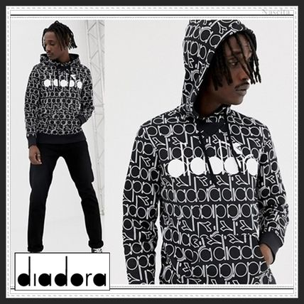 Pullovers Street Style Long Sleeves Cotton Hoodies