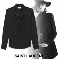 Saint Laurent Silk Long Sleeves Plain Shirts & Blouses
