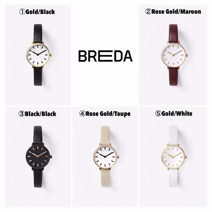 Casual Style Leather Analog Watches