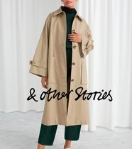 & Other Stories Casual Style Street Style Plain Long Midi Oversized Peacoats