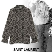 Saint Laurent Long Sleeves Cotton Shirts & Blouses