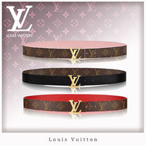 Louis Vuitton MONOGRAM Monogram Blended Fabrics Leather Elegant Style Belts