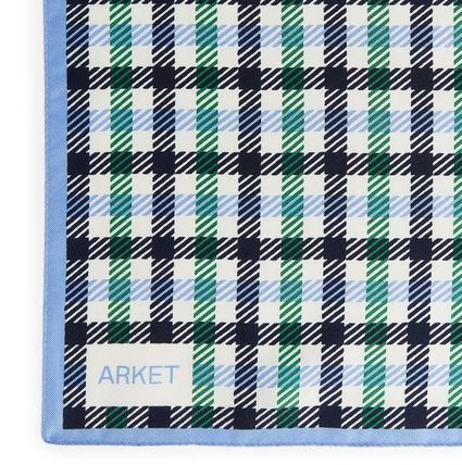 Other Check Patterns Casual Style Unisex Silk