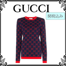 GUCCI Casual Style Long Sleeves Cotton Medium Shirts & Blouses