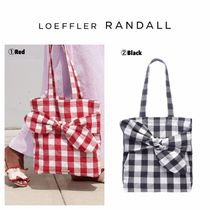 Loeffler Randall Gingham Casual Style A4 Totes