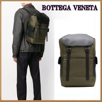 BOTTEGA VENETA Blended Fabrics A4 Plain Leather Backpacks
