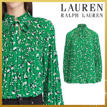 Ralph Lauren Flower Patterns Long Sleeves Medium Elegant Style