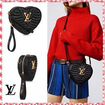 Louis Vuitton Casual Style Calfskin Blended Fabrics 3WAY Plain With Jewels