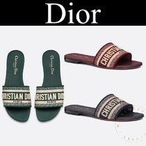 Christian Dior Stripes Casual Style Blended Fabrics Street Style Sandals