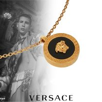 VERSACE Street Style Chain Plain Metal Necklaces & Chokers