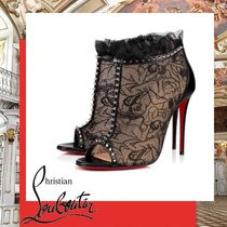 Christian Louboutin Open Toe Pin Heels Elegant Style Ankle & Booties Boots