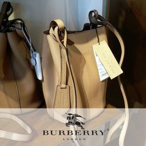 Burberry Other Check Patterns Leather Shoulder Bags