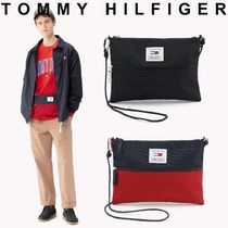 Tommy Hilfiger Unisex Street Style 2WAY Bi-color Messenger & Shoulder Bags