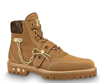 5559dae4f10e ... Louis Vuitton Outdoor Boots Mountain Boots Suede Blended Fabrics Street  Style Plain ...