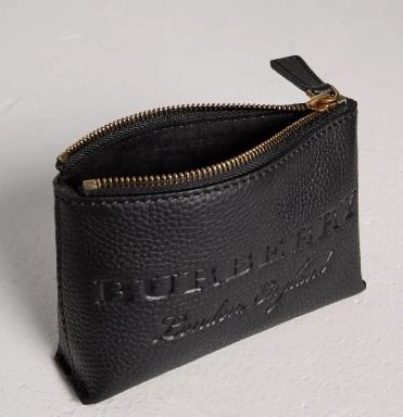 Burberry  Leather zip Pouches / Cosmetic Bags