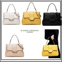 GIANNI CHIARINI A4 2WAY Plain Leather Office Style Handbags