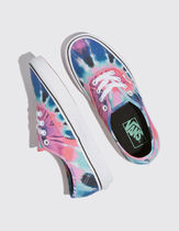 VANS AUTHENTIC Round Toe Casual Style Street Style Tie-dye Low-Top Sneakers