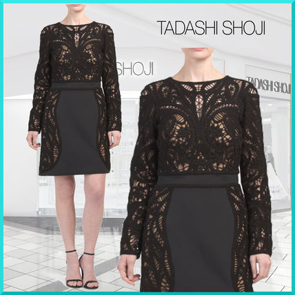 Long Sleeves Medium Party Style Lace Dresses