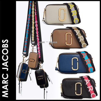 8d88306a4f2e Bi-color Plain Leather Elegant Style Shoulder Bags. MARC JACOBS