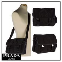 PRADA Nylon Plain Messenger & Shoulder Bags