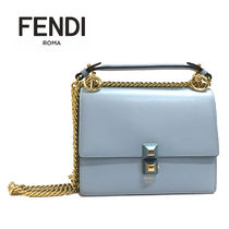 FENDI KAN I Leather Elegant Style Shoulder Bags