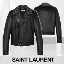 Saint Laurent Short Star Casual Style Leather Jackets