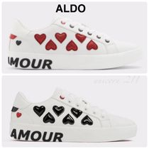 ALDO Heart Round Toe Casual Style Street Style Low-Top Sneakers