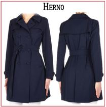 HERNO Plain Medium Office Style Trench Coats